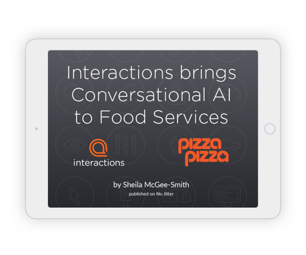 Interactions Brings Conversational AI to Food Services